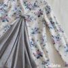 ハンドメイド子供服♡後ろフレアの花柄チュニック